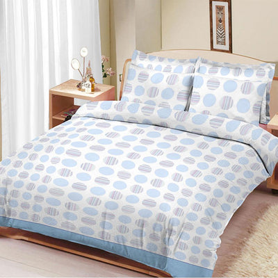 ARC Circle Stripe Double Bed Sheet Set