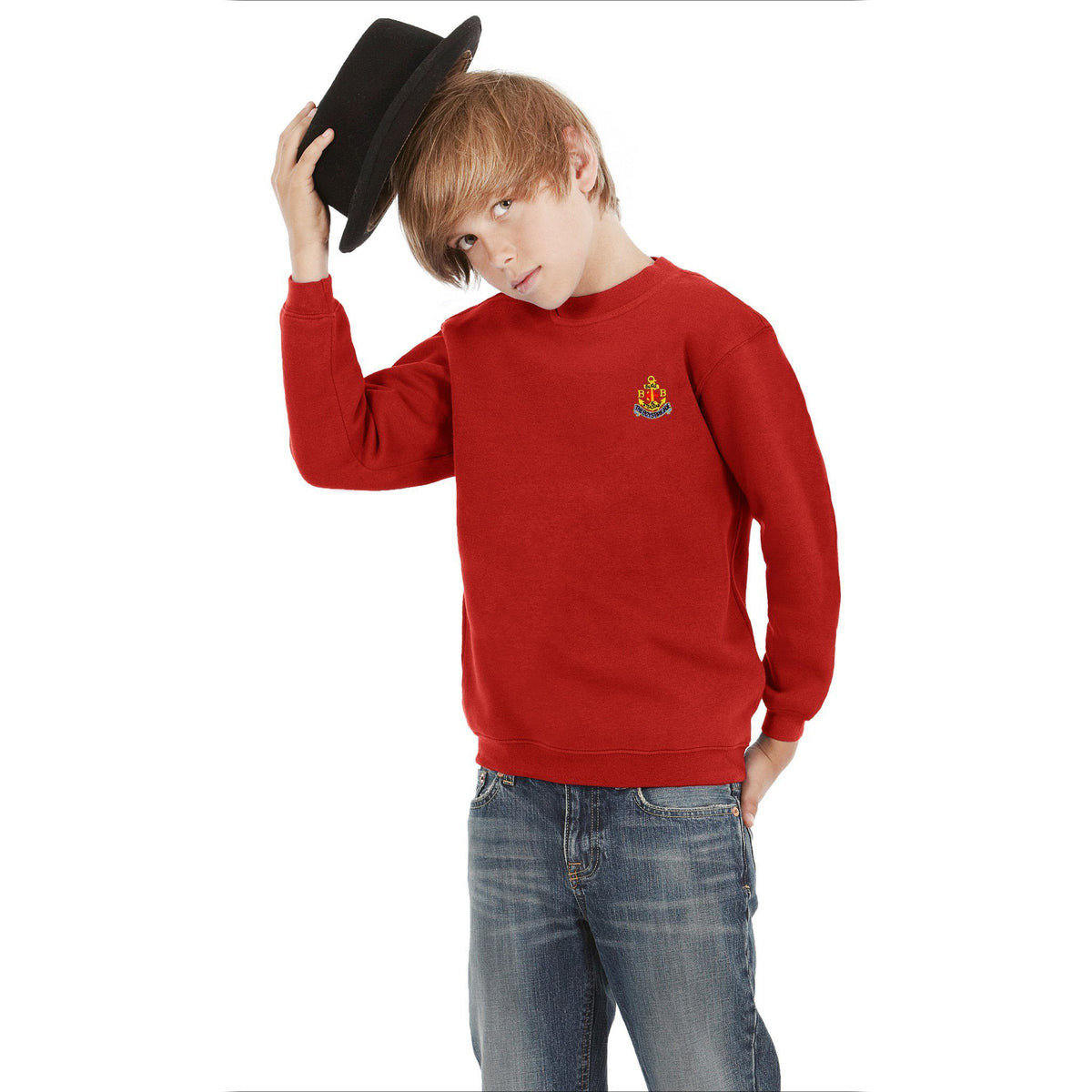 BB Alproso Sweat Shirt Boy's Sweat Shirt Image Red 4-5 Years(24)