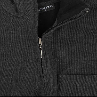 Novita Men's Quarter Zipper Neck Sweat Shirt Men's Sweat Shirt AGZ