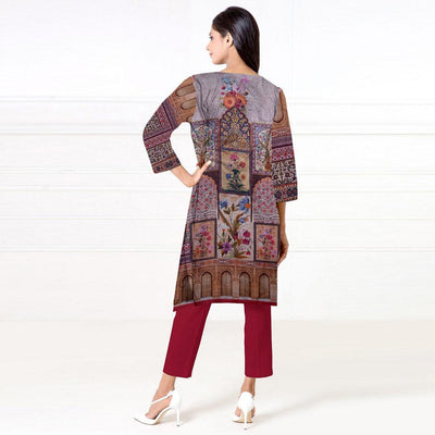 Ceredigion Digital Printed Unstitched Khaddar Kurti Women's Un Stitched Kurti URA