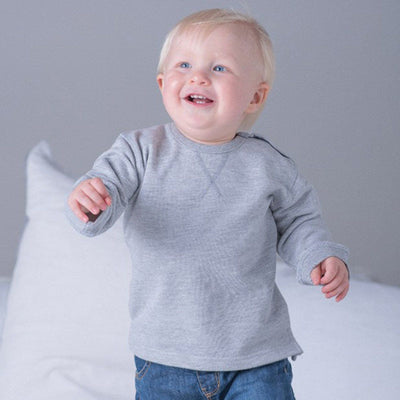 Trence Classic Sweat Shirt Boy's Sweat Shirt Image Grey 6-12 Months