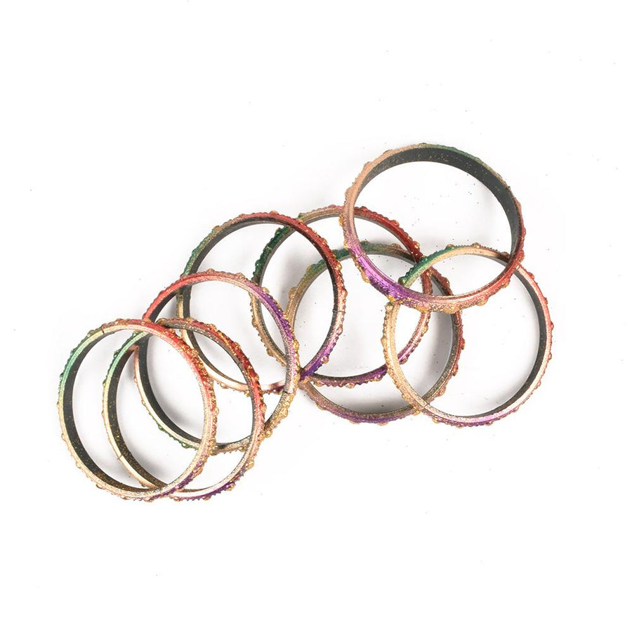 Glitter Color Girls Plastic Bangles
