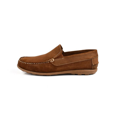 Onfire Suede Leather Tan Loafer Shoes Men's Shoes MB Traders