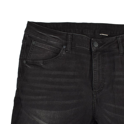 DCM Distressed Style With Open Raw Hem Skin Fit Denim