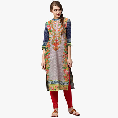 Djemna Digital Printed Embroidered Unstitched Lawn Kurti