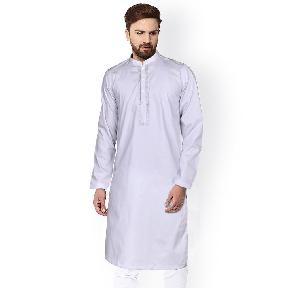Polo Republica Harlev Embroidered Dyed Cotton Kurta Men's Kurta RDS Light Purple S