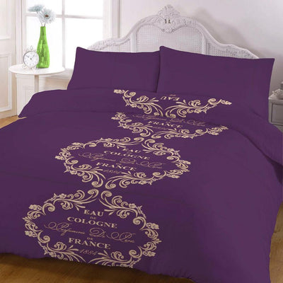ARC Floral Alphabets King Bed Sheet Set
