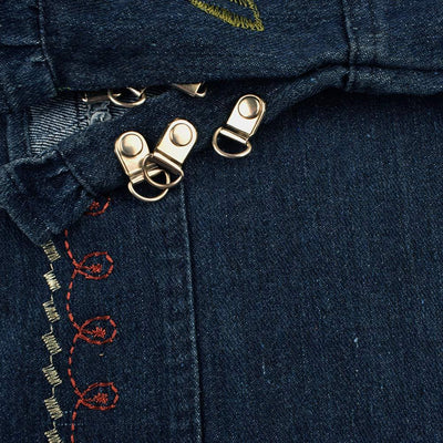Rovigo Dark Wash Embroidered Denim Jacket