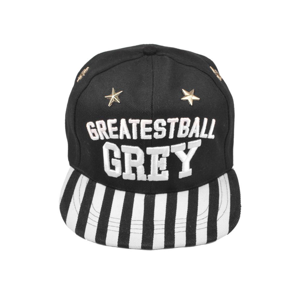MB Greatest Ball Grey Baseball Cap Headwear MB Traders Black