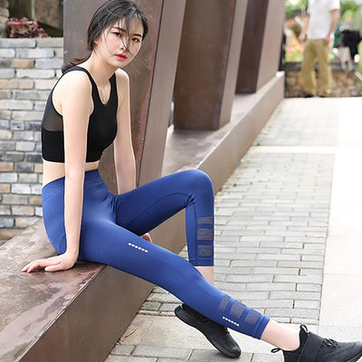 Women's Quick-drying Yoga Capri Leggings Women's Trousers Sunshine China Navy S/M
