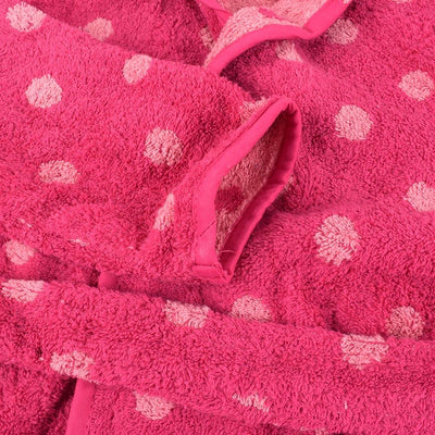 Edredte Kids Dotted Design Hooded Bathrobe Bathrobe First Choice