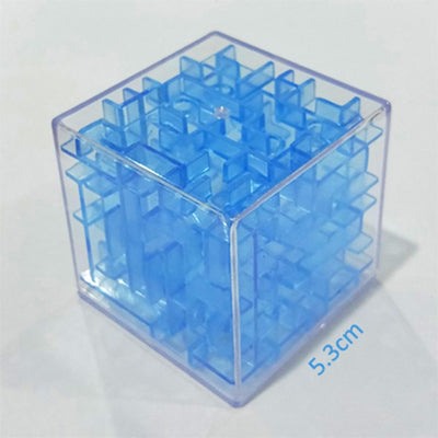 Transparent 3d Beads Intelligence Decompression Rubik's Cube Toy Sunshine China Blue