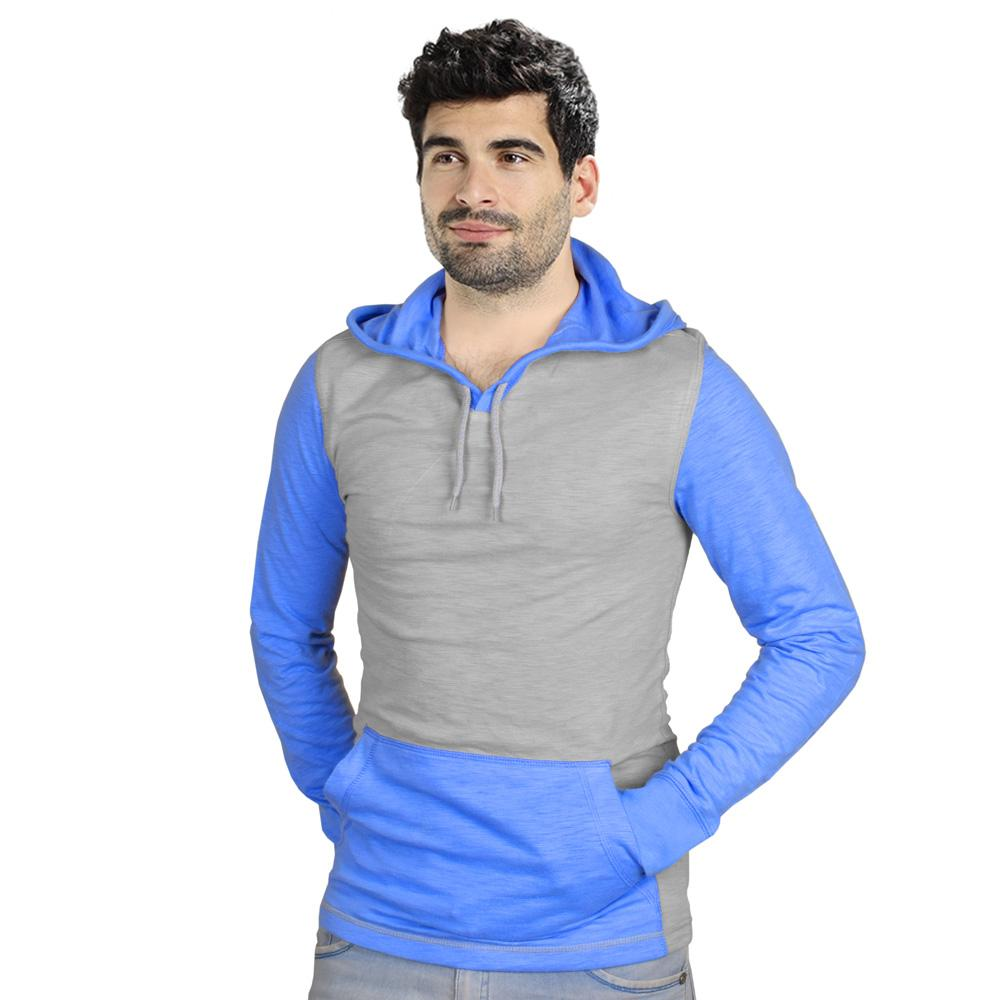 RC Men's Didim Contrast Sleeve Pullover Hoodie Men's Pullover Hoodie First Choice Grey S