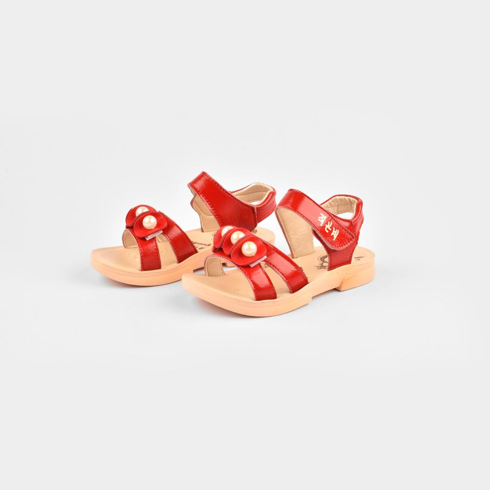 Yudebao Girls Pearl Faux Leather Sandals Girl's Shoes Sunshine China Maroon EUR 27