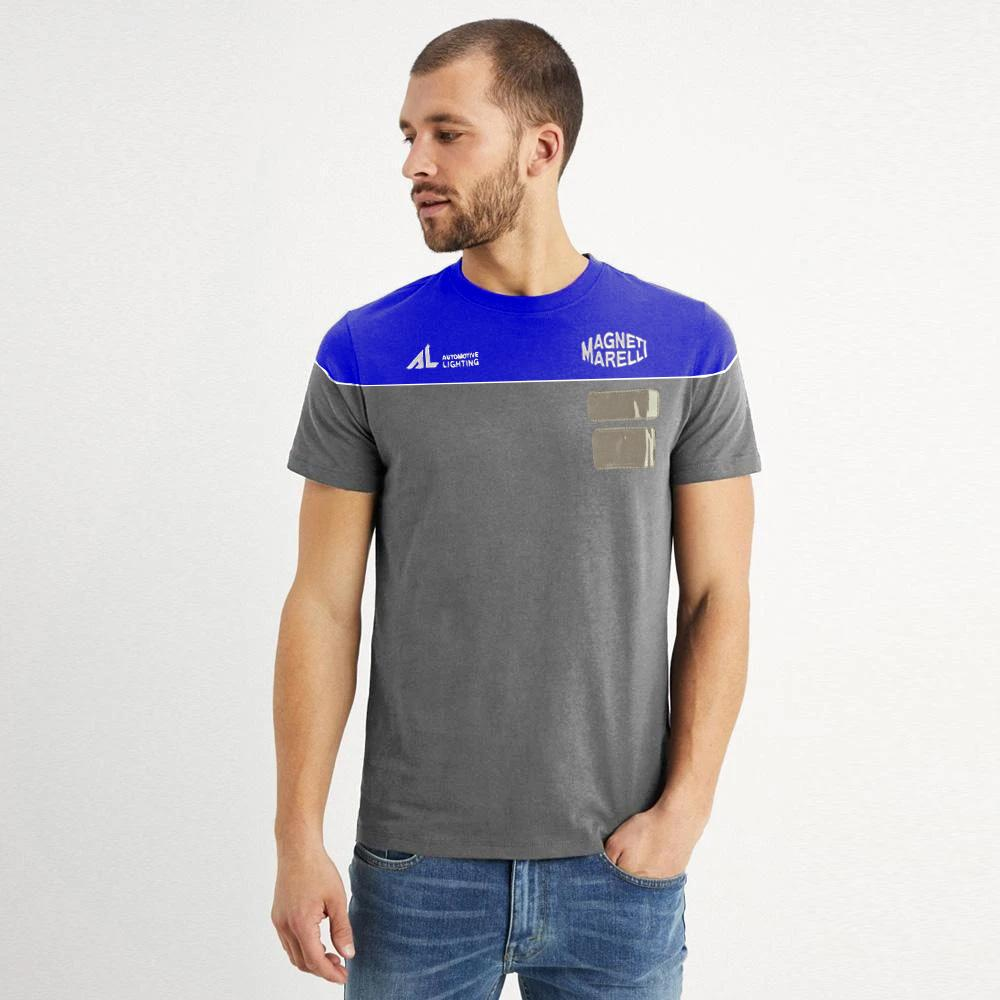 MM Men's Crew Neck Embro Tee Shirt Men's Tee Shirt NMA Graphite Royal XS