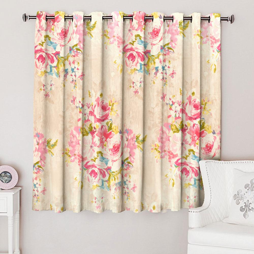 Dunelm Floral Texture One Piece Eyelet Curtain Curtain MB Traders W-46 x L-54 Inches