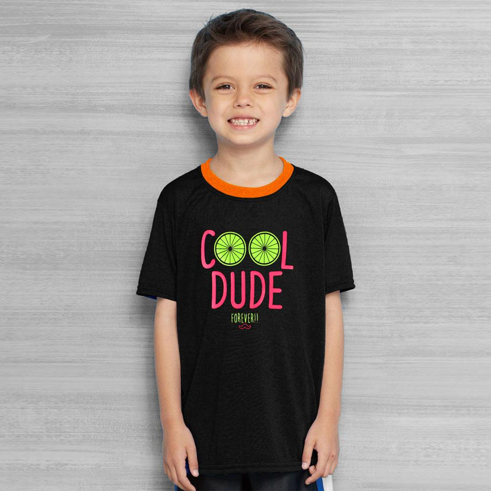 Polo Republica Cool Dude Forever Ringer Tee Shirt Boy's Tee Shirt Polo Republica Black Orange 2 Years