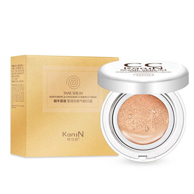 KanjN Snail Serum Moisturizing & Concealing Cushion CC Cream Health & Beauty Sunshine China