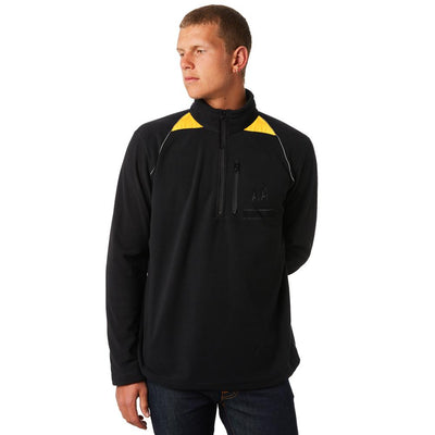 WBR Men's Classic 1/4 Zipper Neck Polar Fleece Sweat Shirt Men's Sweat Shirt Image Black S