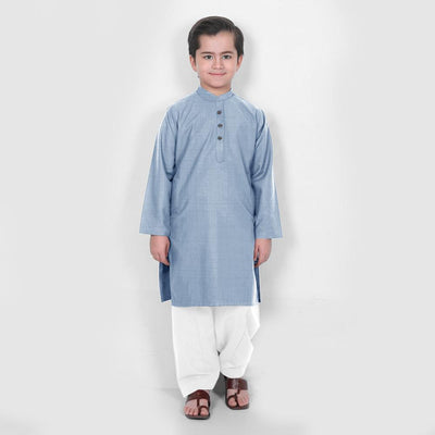 Velvour Boy's Moon Light Stitched Kurta Shalwar Boy's kurta set YTC Sky 1-2 Years