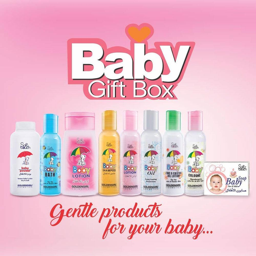 GGC Soft Touch 8 Pcs Baby Gift Box Baby Gift Box Golden Girls Cosmetic