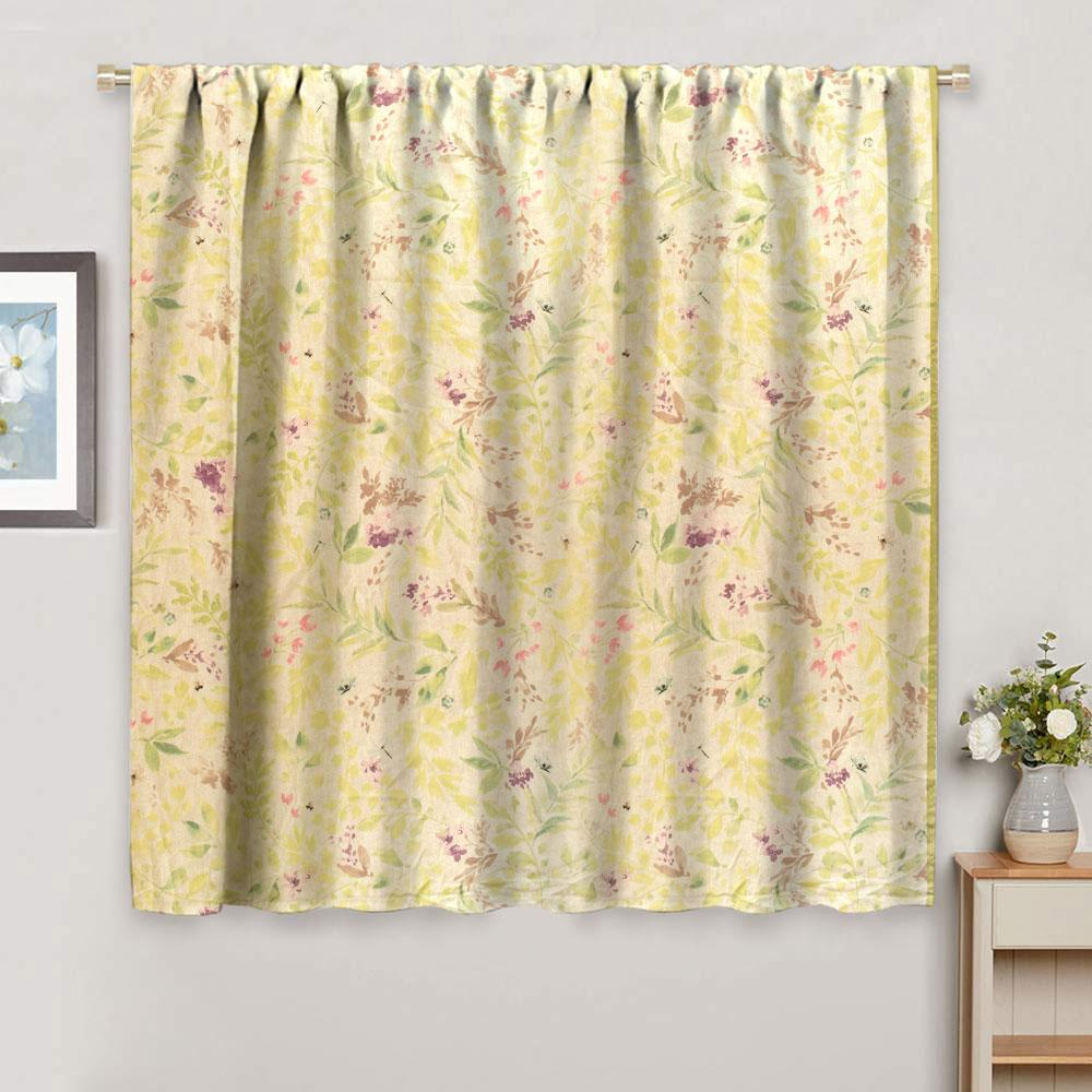 Dunelm Leaf Texture One Piece Pocket Curtain Curtain MB Traders W-42 x L-54 Inches