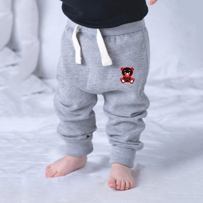 MTS Kid's Cindy Bear Embro Sweat Pants Boy's Sweat Pants Image Heather Grey 12-18 Months