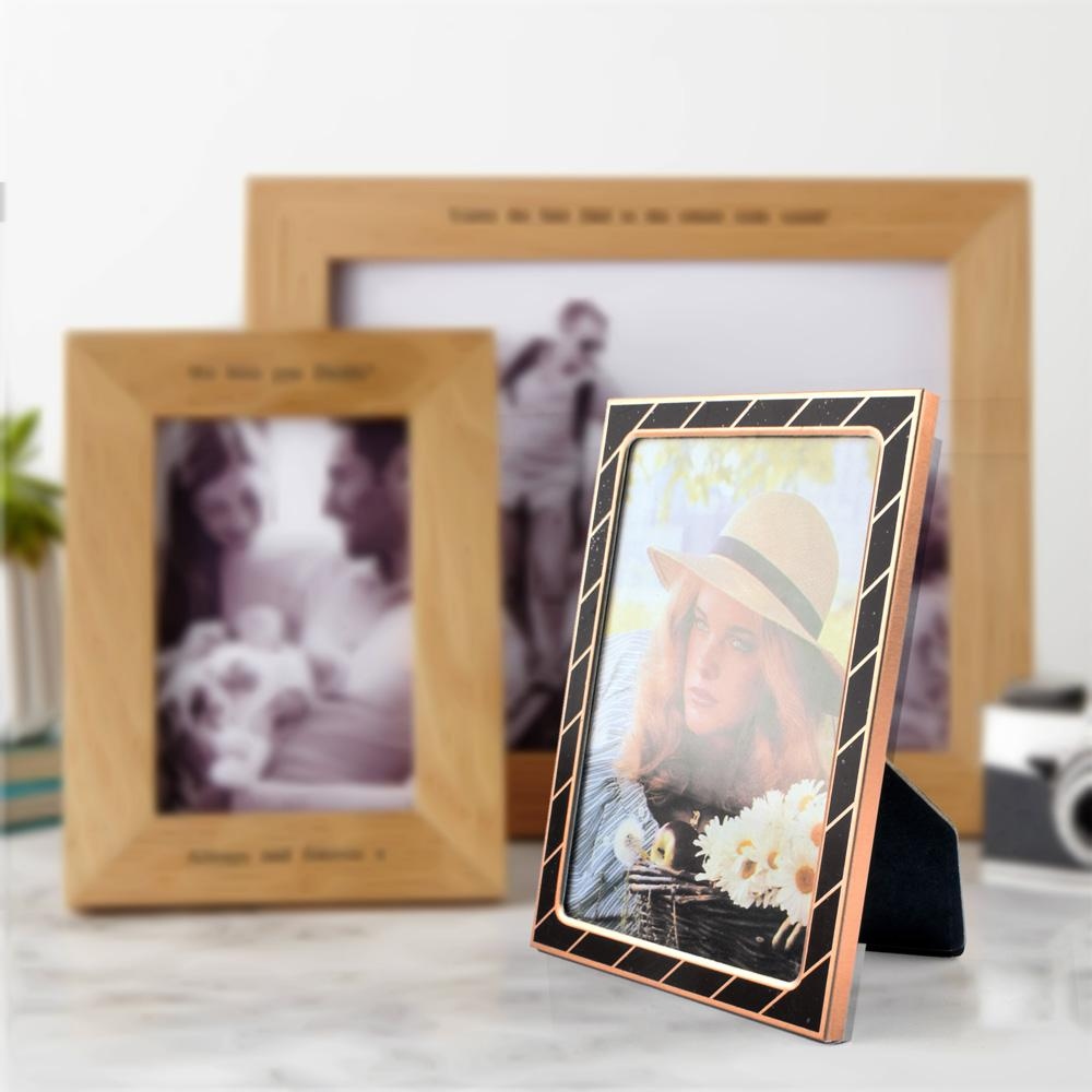 Black N Gold Large Size Photo Frame Home Decor CPUQ