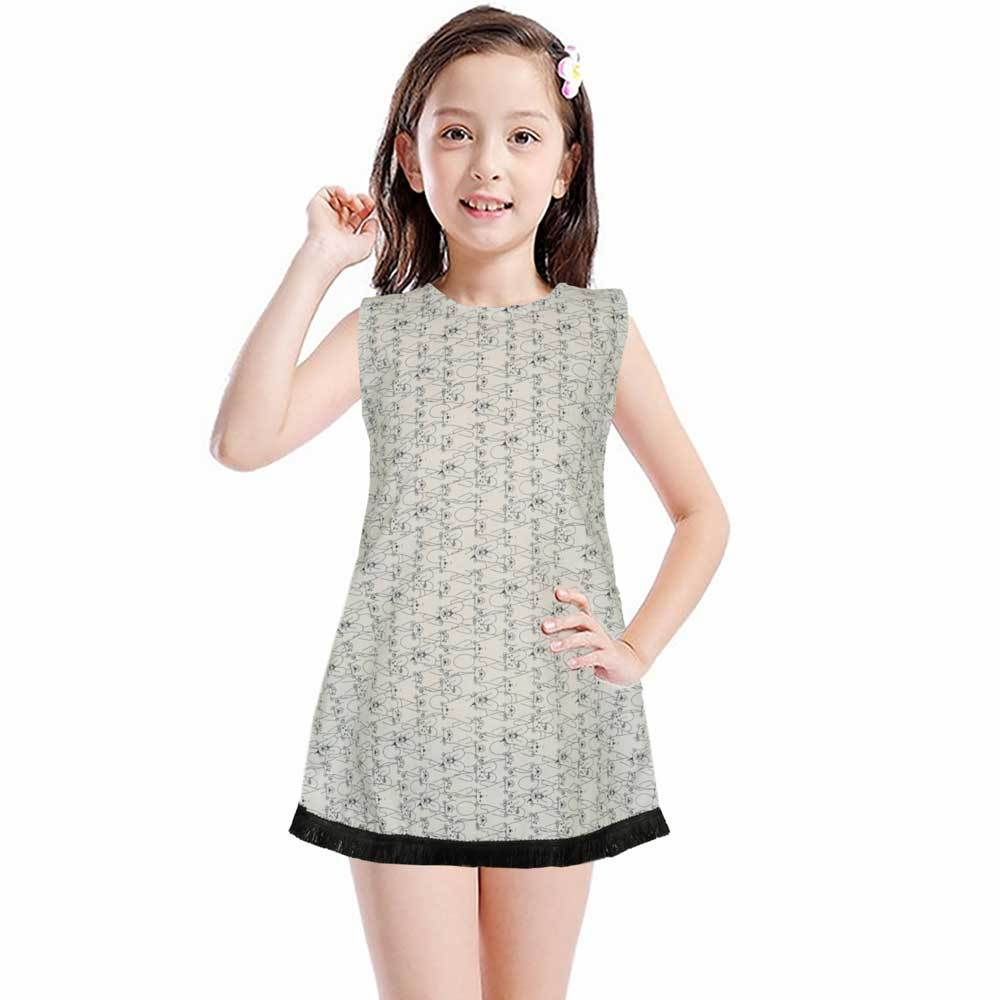Safina Kid's Alessandria Sleeveless Frock Girl's Frock Bohotique 2-3 Years