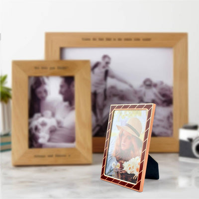 Black N Gold Medium Size Photo Frame Home Decor CPUQ