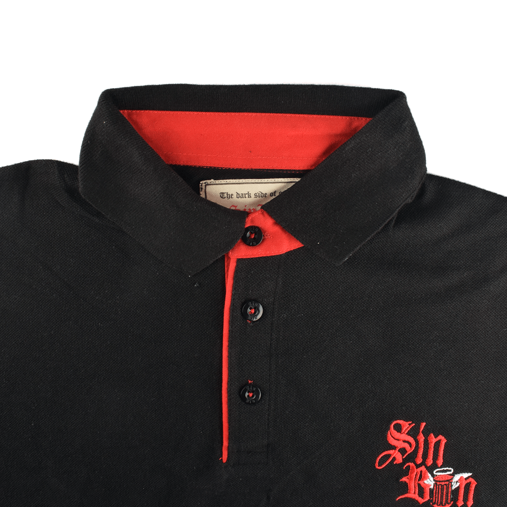 Sin Bin Men's Embroidered Pique Polo Shirt Men's Polo Shirt SNR