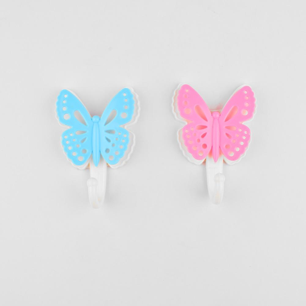 Butterfly Shape Pack Of Two Home Door Wall Mount Hooks