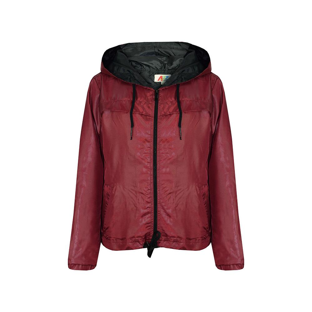 A2Z Women's Ultra Light Windbreaker Jacket Women's Sweat Shirt AGZ Burgundy 5-6