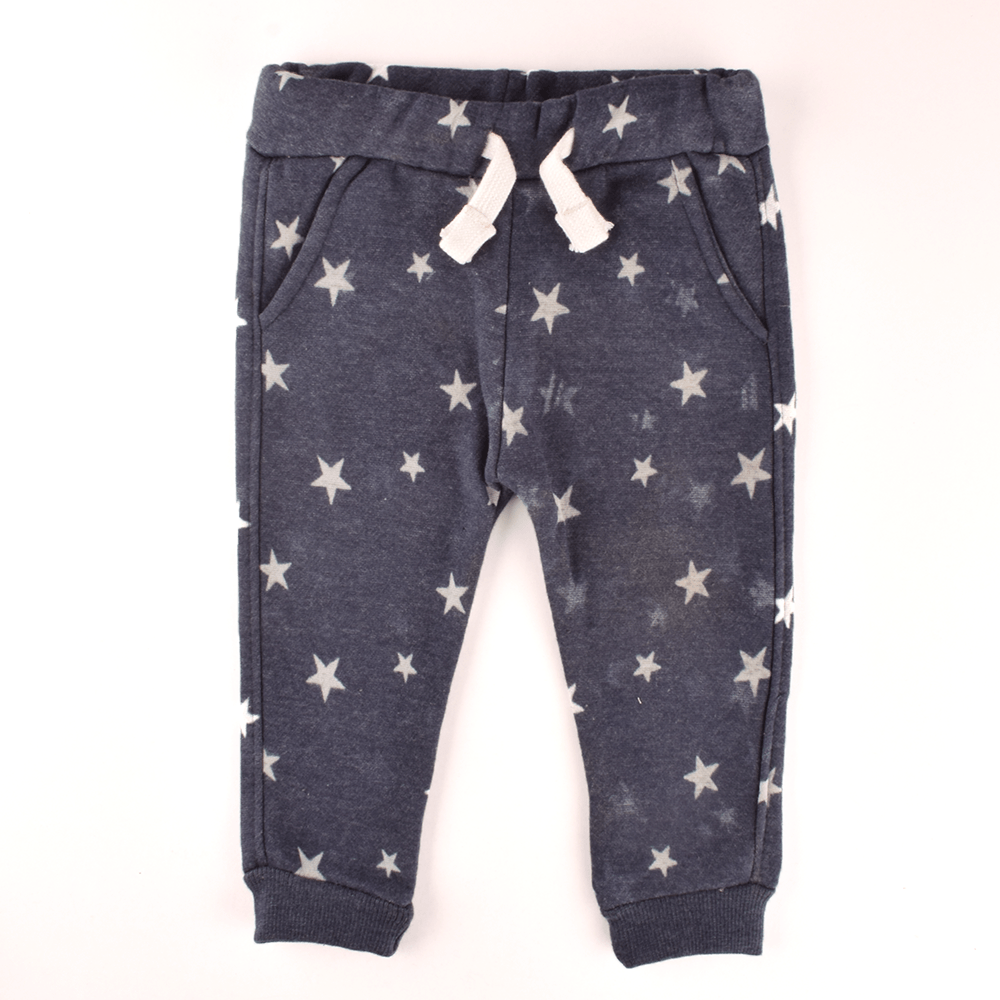 ZR Kid's Alluring Stars Printed Fleece Jogger Pants Boy's Trousers First Choice 3-6 Months