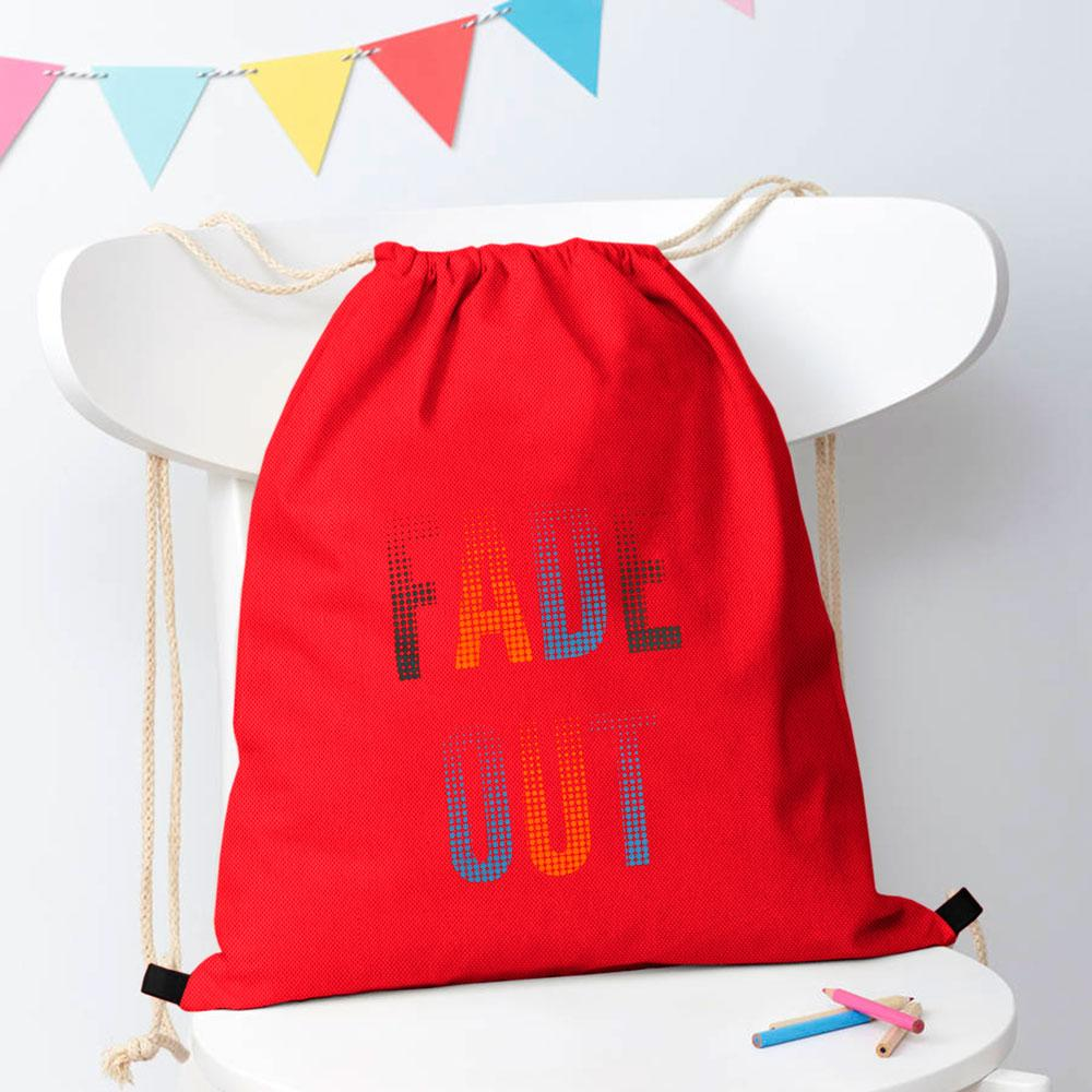 Polo Republica Fade Out Drawstring Bag Drawstring Bag Polo Republica Red