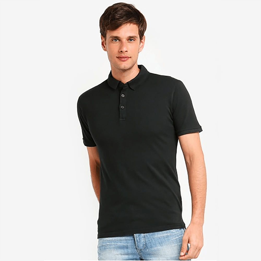 SB Men's Solid Pique Polo Shirt Men's Polo Shirt Image Black XL