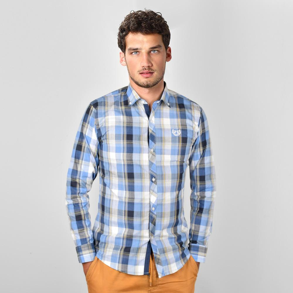 AHE Tampico Fashion Check Design Casual Shirt Men's Casual Shirt AHE M