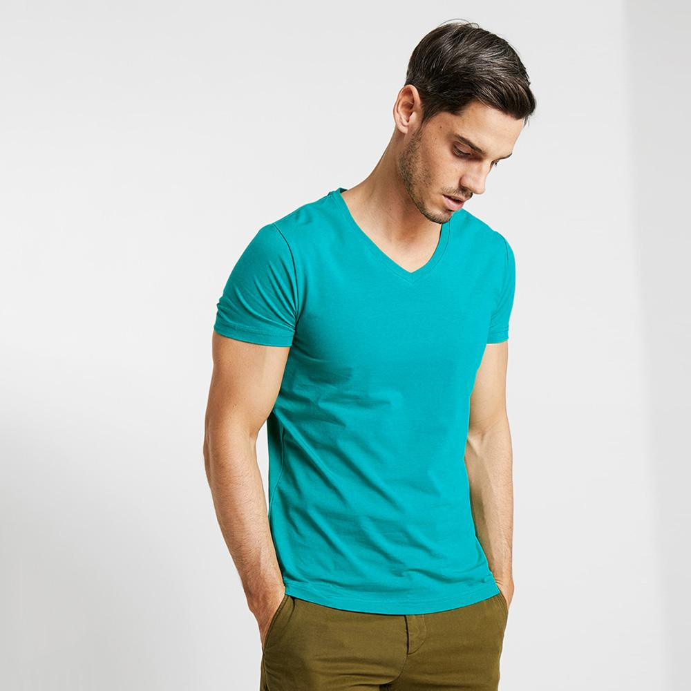 CSG Fabriciano V Neck Men's Solid Tee Shirt