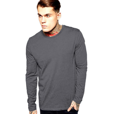 LE Bleeni Long Sleeve Crew Neck Minor Fault Tee Shirt Minor Fault Image Graphite XS
