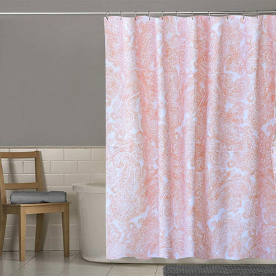 MB Fanton Paisley One Piece Washroom Curtain Curtain MB Traders Dark Peach