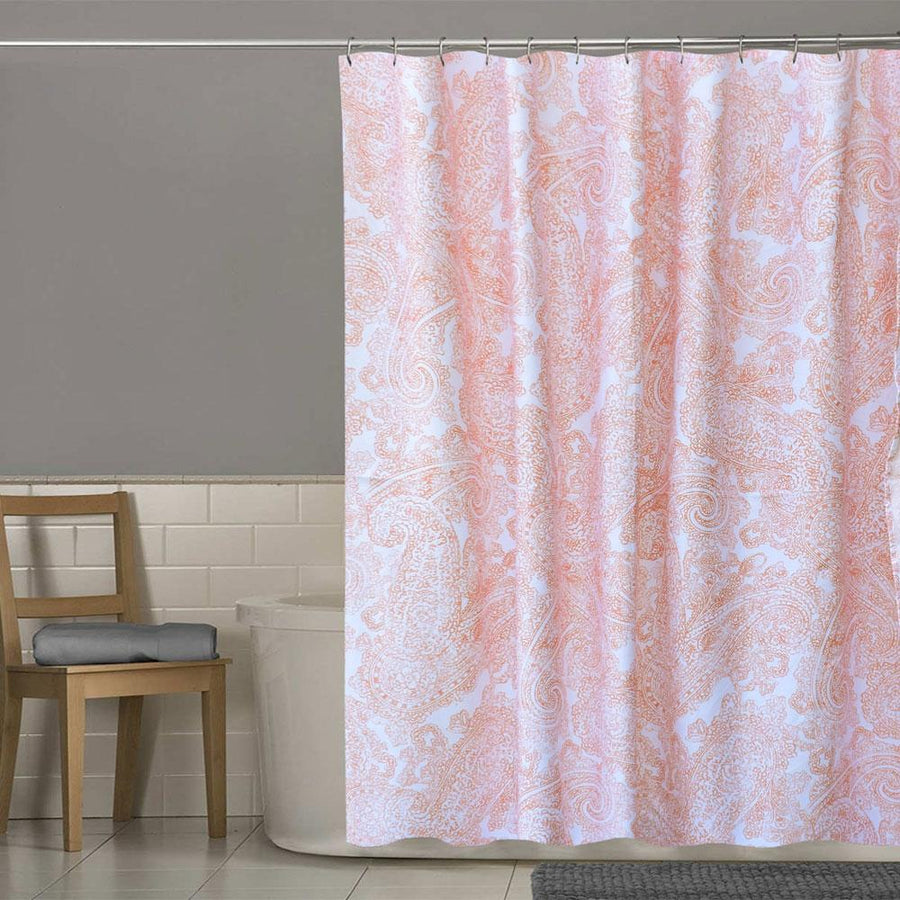 MB Fanton Paisley One Piece Washroom Curtain