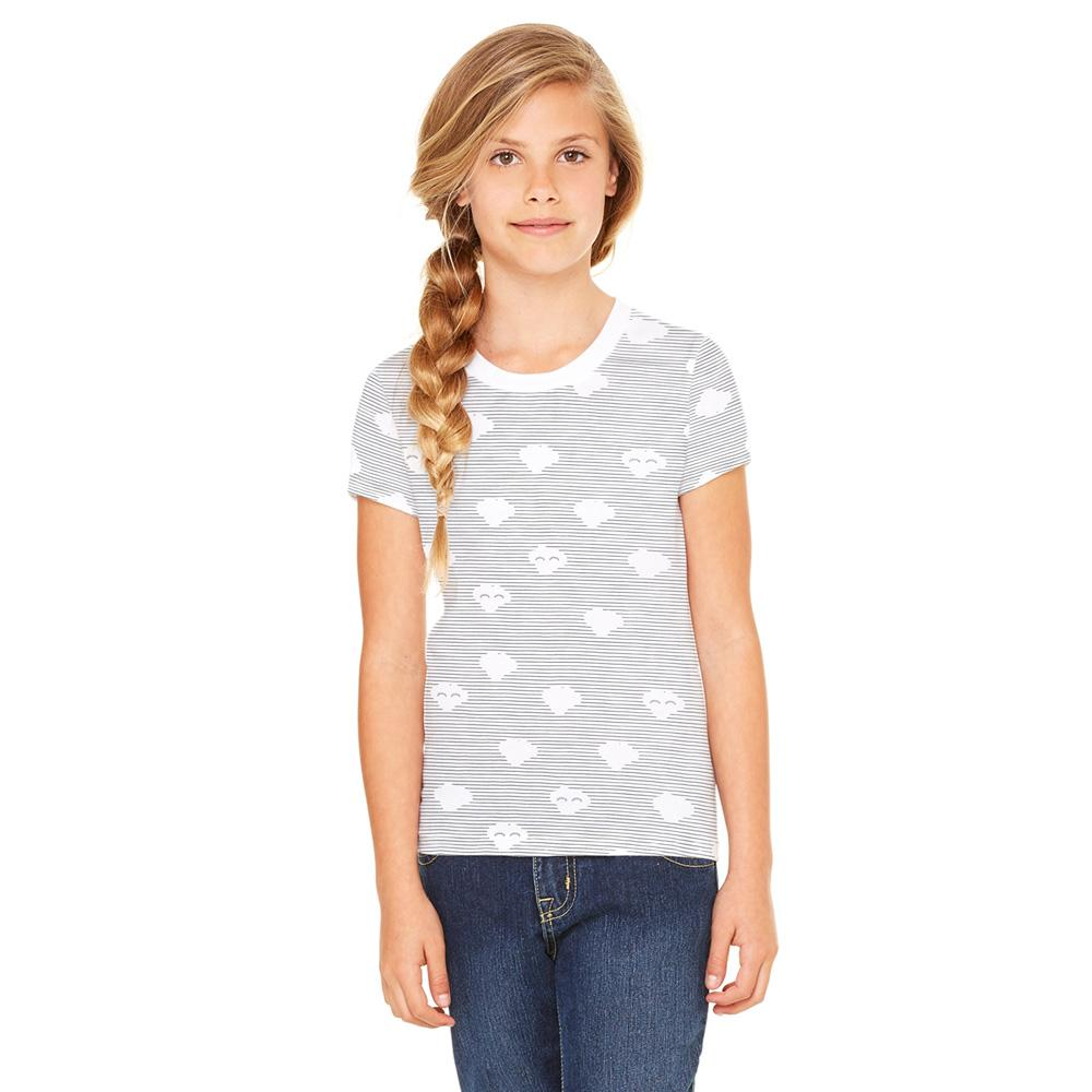 Zeeman Kids Cloud Design Tee Shirt Girl's Tee Shirt First Choice 92