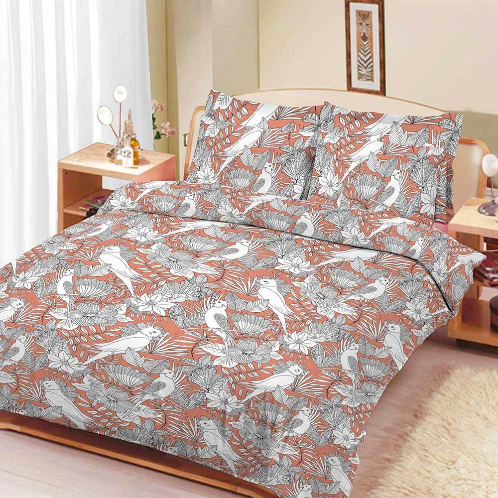 ARC Zellerfeld Leaf Texture Double Bed Sheet Bed Sheet ARC