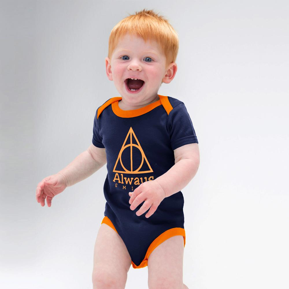 Polo Republica Always Smile Jersey Baby Romper Babywear Polo Republica Navy Orange 0-3 Months