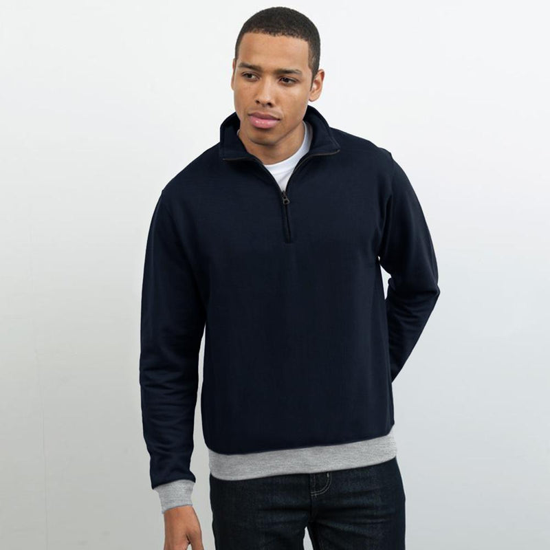 Polo Republica Dexing 1/4 Zipper Neck Sweat Shirt Men's Sweat Shirt Polo Republica Black XS