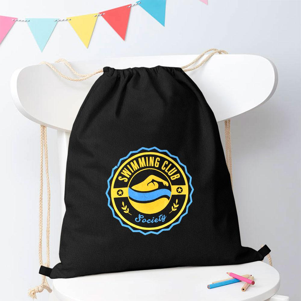 Swimming Club Society Drawstring Bag Drawstring Bag Polo Republica Black Yellow
