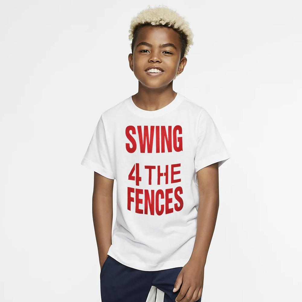 HM Swing 4 The Fences Kids Tee Shirt Boy's Tee Shirt First Choice White 2-3 Years