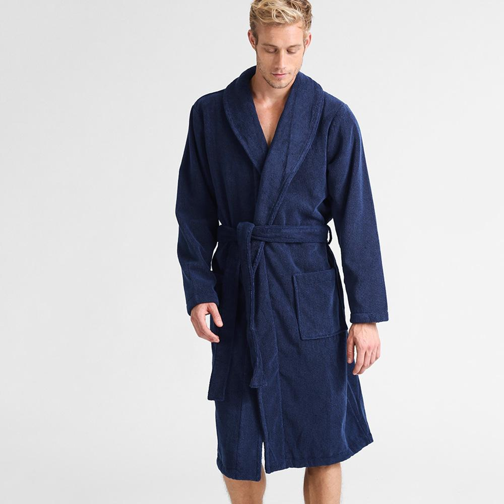 Supreme Towels Unisex Breathable Bathrobe Bathrobe First Choice Navy S