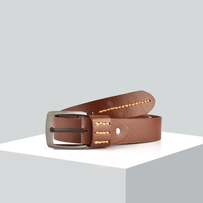 Men's Genuine Leather Elementary Style Belt Men's Belt MB Traders Dark Brown 30-32