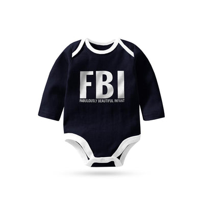 Polo Republica FBI Long Sleeve Baby Romper Babywear Polo Republica 0-3 Months